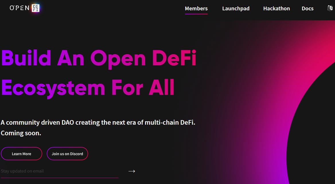 Open DeFi запускает DAO