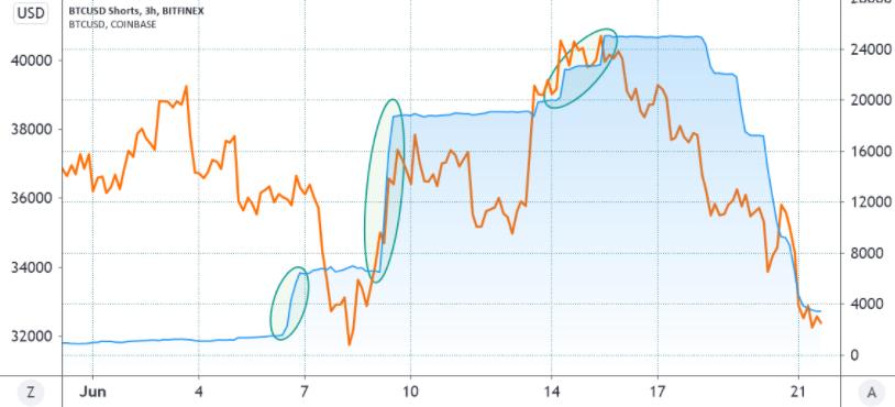 Короткие позиции Bitfinex