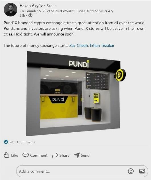 Физическая криптобиржа PundiX